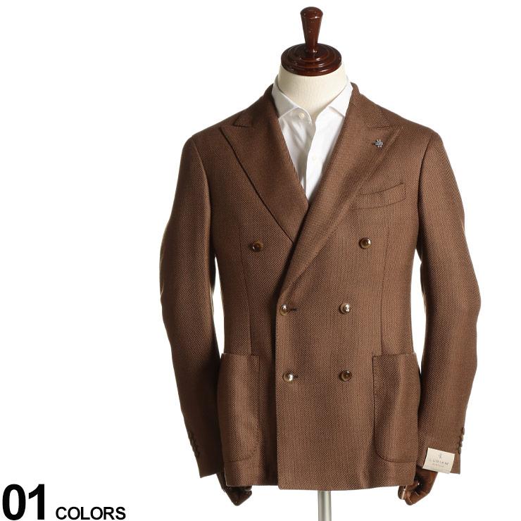 L.B.M.1911 (エルビーエム1911) ウール100% ホップサック ダブル 6ツ釦 ジャケットブランド メンズ 男性 アウター ジャケット テーラード ウール ダブルジャケット 秋 冬 フォーマル カジュアル LBM214292048