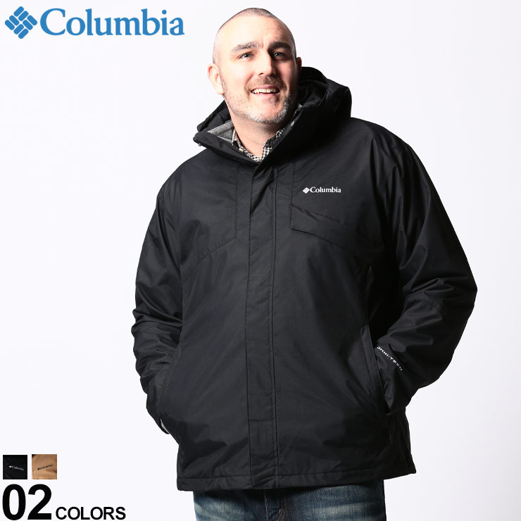 ジャケット ブルゾン パーカー 大きいサイズ メンズ アウター 秋 冬 防寒 アウトドア フード フルジップ 1800663D22 OMNI-TECH コロンビア レジャー Columbia お気に入り 防水 裏フリースライナー 3WAY 卸直営