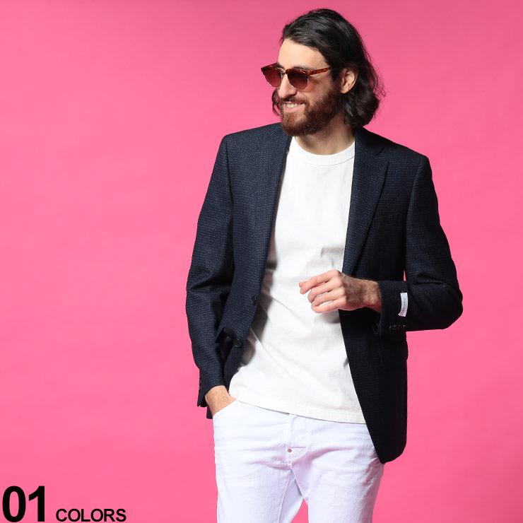 Calvin Klein カルバンクライン ブランド メンズ 男性 アウター ジャケット テーラード ウール スリム SLIMFITブランド フォーマル 2ツ釦 冬 CKMABRY7CXX093 ミニチェック きれいめ ウール混 秋 シングル 売り出し 高額売筋