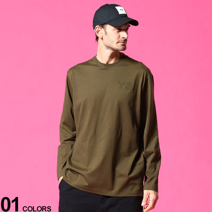 Y-3 ワイスリー ブランド メンズ 男性 トップス 送料無料限定セール中 Tシャツ ロンT 長袖 シャツ クルー 激安通販専門店 アディダス ストリート LOGOブランド コットン クルーネック CHEST 胸ロゴ Y3GV4120