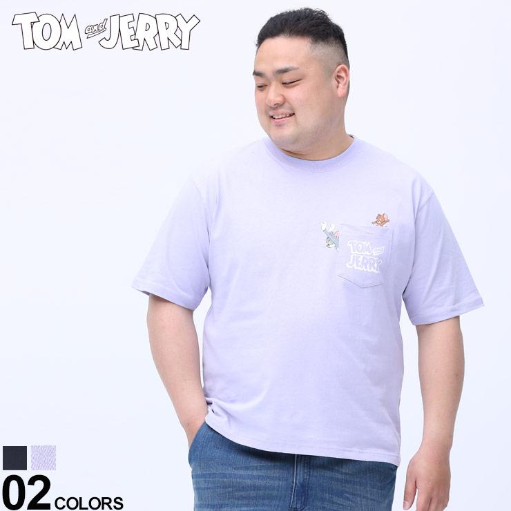 Tシャツ クルー 半袖 ポケットT NEW ARRIVAL 大きいサイズ メンズ トップス ポケT 春 夏 キャラクター and トムジェリー クルーネック 13351504 トムアンドジェリー ポケット お得 コットン TOM プリント JERRY