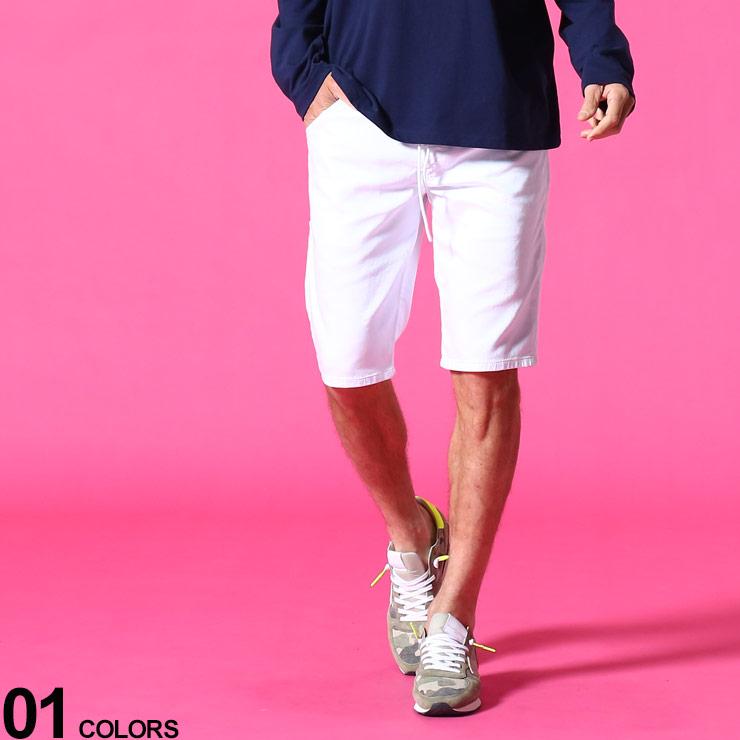 DIESEL ディーゼル ブランド メンズ 男性 ボトムス パンツ ショートパンツ ショーツ デニム 本物 早割クーポン 無地 JoggJeansブランド ウエストコード ジップフライ 春 DSKROOSHORT684U 夏 白 ストレッチ