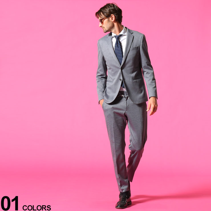 HUGOBOSS ヒューゴボス ブランド メンズ 男性 セット セットアップ ジャケット ビジカジ ビジネス 2ツ釦 スーツブランド ノータック HBNB10233142P 大幅値下げランキング 細身 ストレッチ ウエストゴム きれいめ 通信販売 シングル パンツ