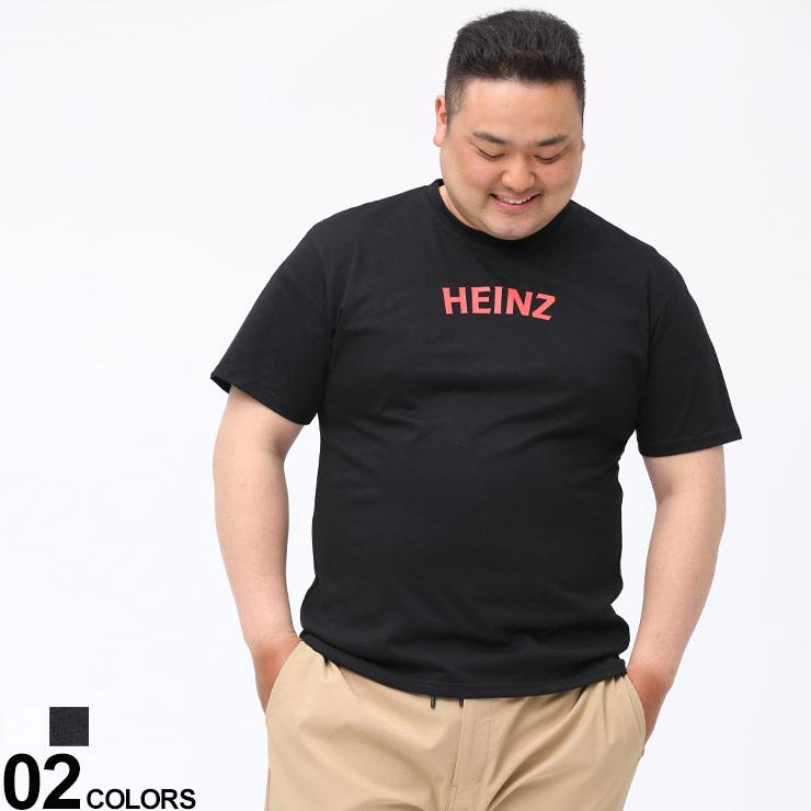Tシャツ クルー 半袖 プリントT 大きいサイズ メンズ トップス 春 プリント 日本最大級の品揃え Heinz 夏 バックプリント ハインツ クルーネック HZSTB01 贈与