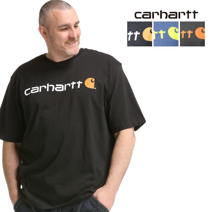 本店 Tシャツ クルー 半袖 プリント 大きいサイズ メンズ トップス 春 夏 ロゴプリント K195D22 クルーネック 特価キャンペーン Carhartt シンプル ゆったり カーハート LOOSE FIT