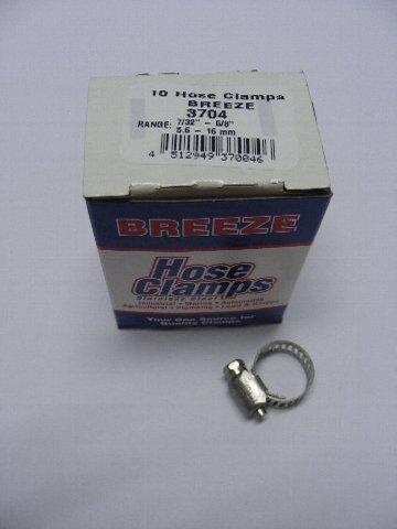 品質保証 BREEZE ホースバンド 3704 超人気 専門店 10個入り 5.6mm~16mm