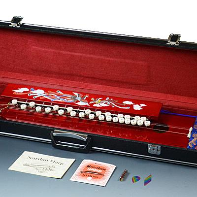 ナルダン大正琴 W-150 T-007 さわやかなワインカラーです。 付属セット付!【送料無料】【2倍】=ND=
