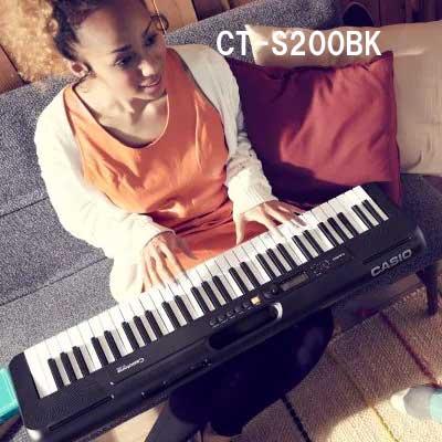 楽しいキーボードピアノ 期間限定送料無料 送料無料 CASIO カシオ CT-S200BK 黒 賜物 キーボード