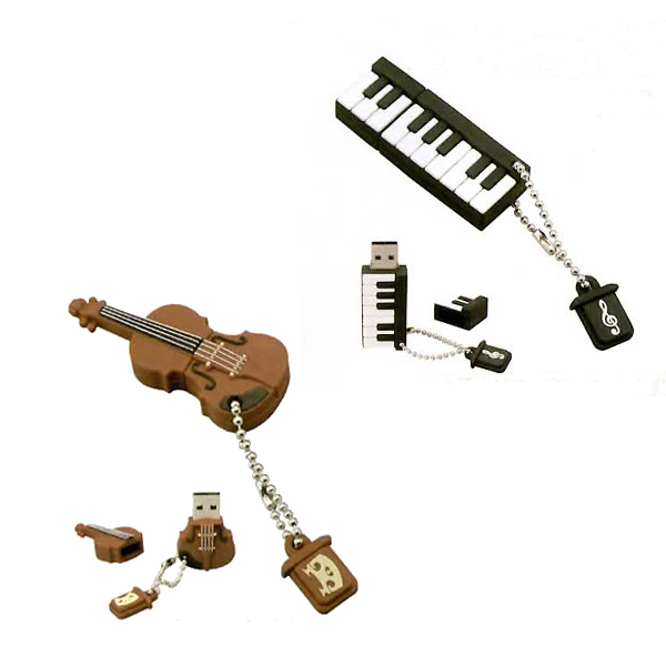 楽器型USBメモリー ランキングTOP10 ピアノ バイオリン 2種 名古屋のピアノ専門店 可愛い音楽雑貨 メール便対応可 人気