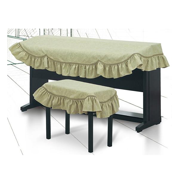 激安☆超特価 送料無料 電子ピアノカバーD-DM 専用椅子カバーDM-CFセット商品 海外 グリーン地模様 名古屋のピアノ専門店 花柄 アルプス ジャガード織