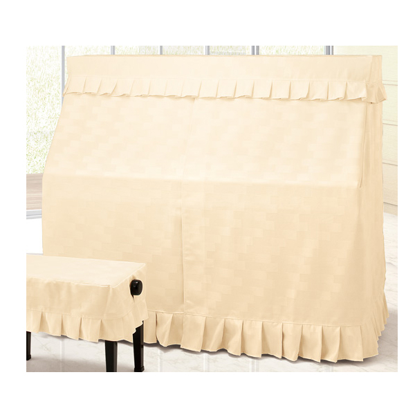 ピアノカバー 送料無料 アップライトピアノカバー オールカバー ライトベージュ系 A-BE ジャガード織 アルプス 名古屋のピアノ専門店 レンガモチーフ 宅配便送料無料 売り込み