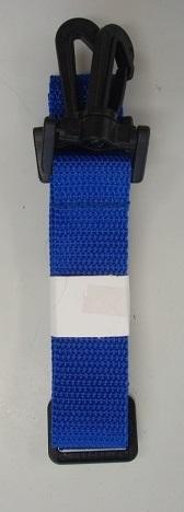 ショルダーベルトのみの販売になります オリジナル 画材書道バッグ用ショルダーベルトブルー 広め 直送商品 8個までネコポス 2.5cm幅結合部分プラスチック