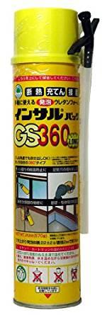 ABC商会 1液型 ウレタンフォームGS360ロング インサルパック(12本入り)(在庫あり)