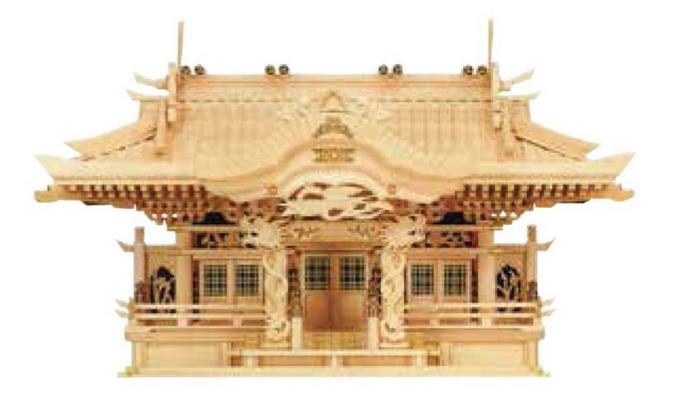 神棚 シナ三社堂(入母屋)No.132S ※メーカー取寄せ品3~5日