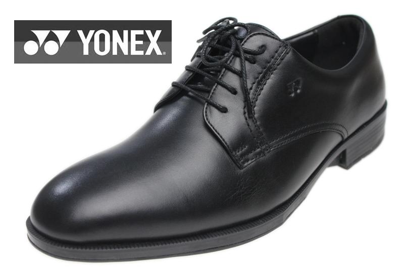 YONEX ヨネックス 【Be-COMFORT】 MB04 メンズ ウォーキングビジネスシューズ ブラック 外羽根 プレーントゥパワークッション/通気性/革靴/紳士靴/激安/格安【あす楽対応】【送料無料】【10%OFF】