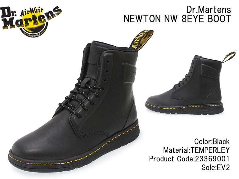 【Dr.Martens】ドクターマーチン NEWTON NW 8EYE BOOT ニュートン NW 8アイブーツ 23369001 BLACK ブラック メンズ/レディース/ショートブーツ/TEMPERLEY/本革/8ホール/SoftWair/軽量/DM'S LITE/ミドル/あす楽【10%OFF】【送料無料】