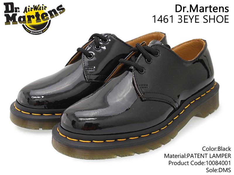 【Dr.Martens】ドクターマーチン 1461 3 EYE SHOE 1461 パテント 3アイ シューズ 10084001 BLACK ブラック レザー 本革/レディース/革靴/レースアップ/3ホール/Airwair/PATENT/光沢/黒/ギブソン/人気/通販【10%OFF】【送料無料】【あす楽】