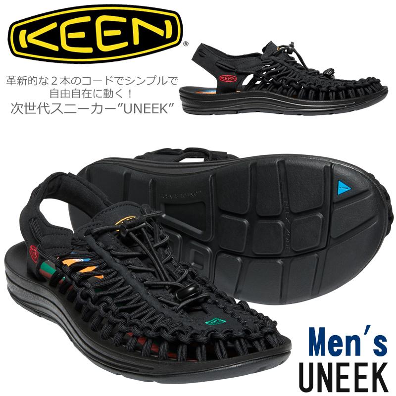 キーン【KEEN】 UNEEK ユニーク 1023048 メンズ 次世代スニーカー Multi/Blackmen's/軽量/水陸両用サンダル/リラックスシューズ/ラウンドコード/カジュアルシューズ/フットベッド/快適/通気性/速乾性/2020年春夏モデル【あす楽】