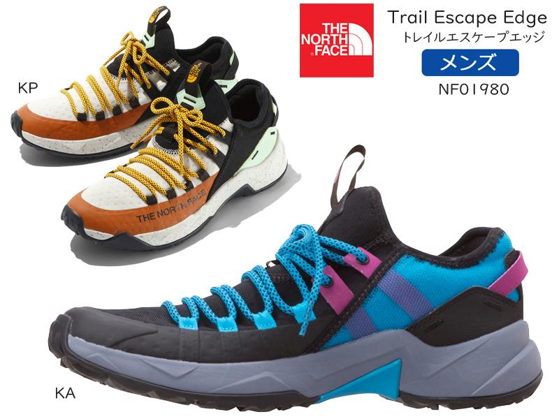 THE NORTH FACE【ザ・ノースフェイス】トレイルエスケープエッジ NF01980 メンズ スリッポン Trail Escape Edgeメンズ/紐靴/アウトドア/トレイルランニングシューズ/軽量/メッシュ/【送料無料】