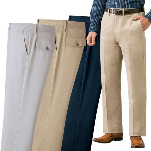 お手入れ簡単 スラックス 快適定番ズボン 同サイズ3色組 ストレッチ素材 選べる股下 ファスナー付ポケット 通年 40代 50代 60代 957628