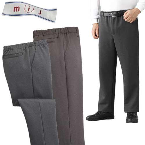 メンズ 秋冬 mij 日本製あったか楽々パンツ2色組 ズボン WA-1011 50代 60代