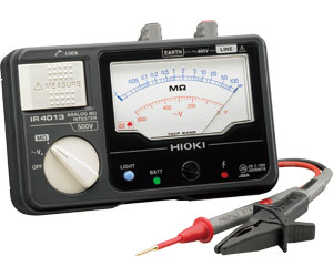 日置電機 アナログメグオームハイテスタ IR4013-10 (スイッチなしリード付属)