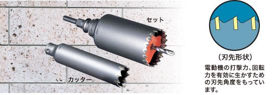 ミヤナガ 振動コア 105mm PCSW105R (セット) SDS軸