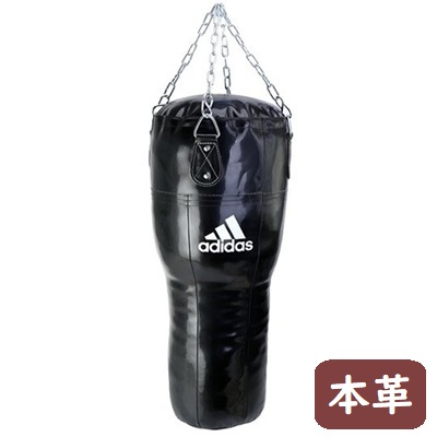 adidas アッパーカットアングル サンドバッグ(本革)//ボクシング 空手 格闘技 練習 ジム 道場 トレーニング M-WORLD