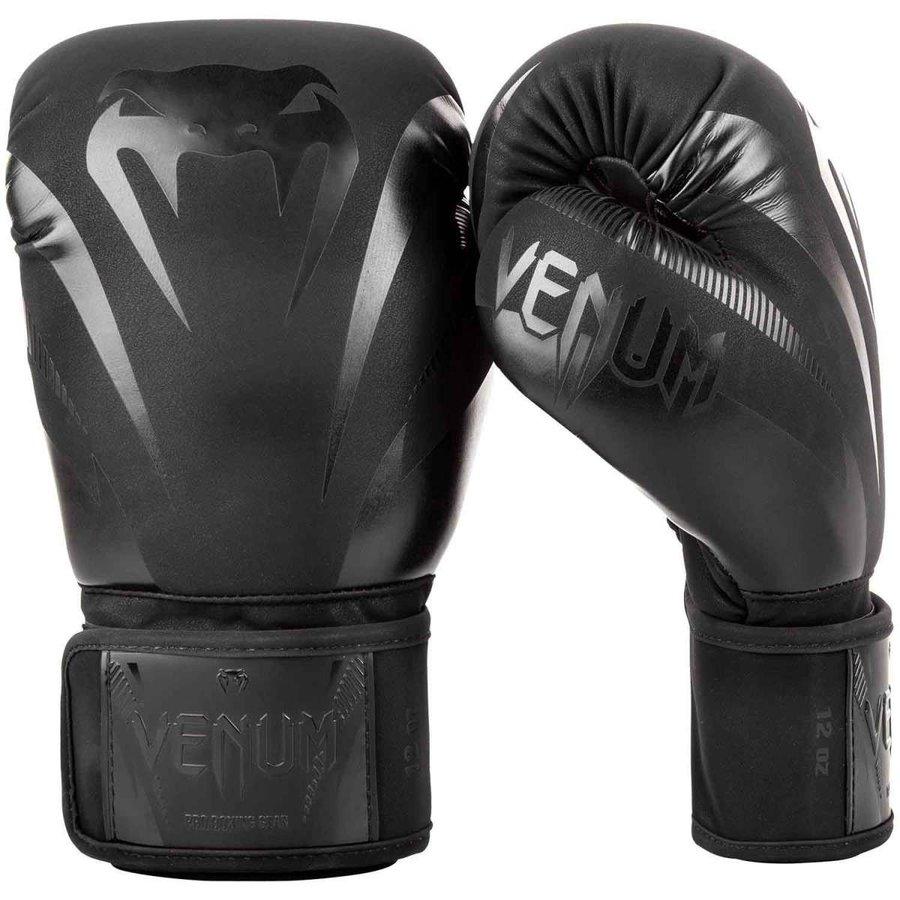 VENUM ボクシンググローブ IMPACT (マットブラック) //ヴェナム スパーリンググローブ 格闘技 ボクササイズ フィットネス キックボクシング 送料無料