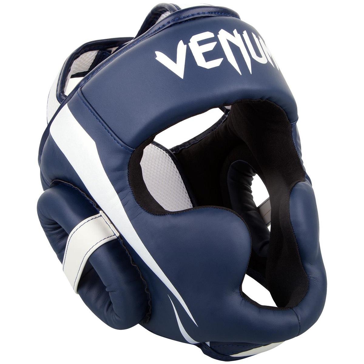 VENUM ヘッドガード Elite Headgear (ホワイト×ネイビーブルー) //ボクシング スパーリング キックボクシング ヘッドギア 格闘技 防具 送料無料