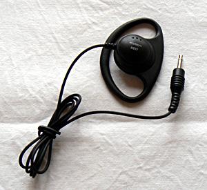 ■トランシーバーに最適なコード75cm■ 価格 在庫処分 HE57M 3.5φストレート 第一電波工業 ネコポス 耳掛けイヤホン ダイヤモンド HE-57M