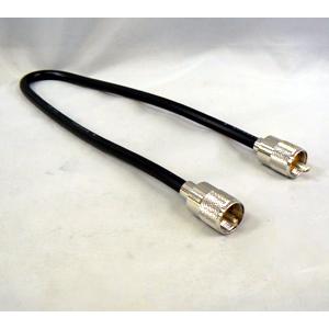 蔵 ■M型の無線機とM型の周辺機器を継ぐ中継ケーブル■ MM-50 M型コネクター用 中継ケーブル MM50 ネコポス 実物 50cm