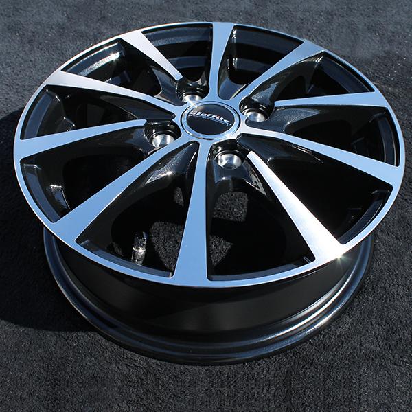 アウトレット 18年製造 国産 スタッドレスタイヤ 14インチ ヨコハマタイヤ アイスガード 5 プラス IG50+ ig50plus 軽自動車 155/65R14 LE-03 4.5J +45 ブラックポリッシュ