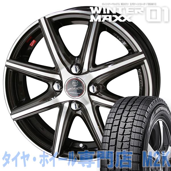 18年製 国産 スタッドレスタイヤ WM01 ダンロップ ウィンターマックス 155/65R14 14インチ スマック VANISH ヴァニッシュ ENKEI ミラ ムーブ タント