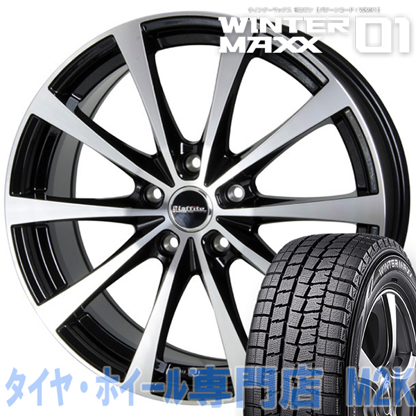 送料無料 ダンロップ WM01 スタッドレスタイヤ 4本 ホイール ウィンターマックス LE-03 16インチ 6J+42 5-100 215/65R16 フォレスター