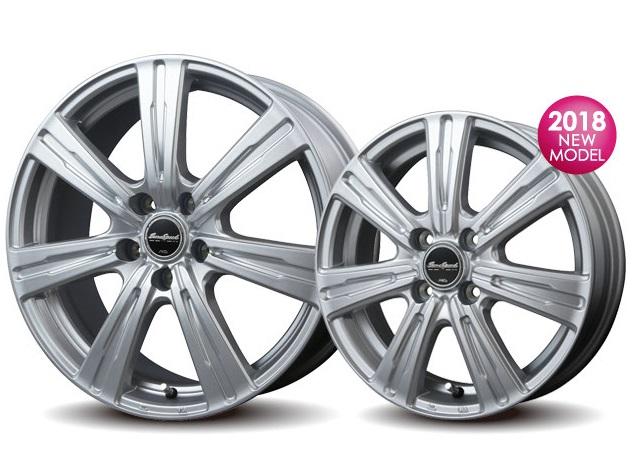 国産 スタッドレスタイヤ WM01 ダンロップ ウィンターマックス 155/65R13 13インチ ユーロスピード C07 シルバー ミラ ワゴンR N-BOX アルト