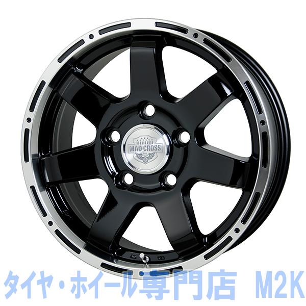 18インチ マッドクロス MC76 8J+48 ブラックリムポリッシュ JWL-T VIA 車検 5H-150 ランドクルーザー 200系 4本