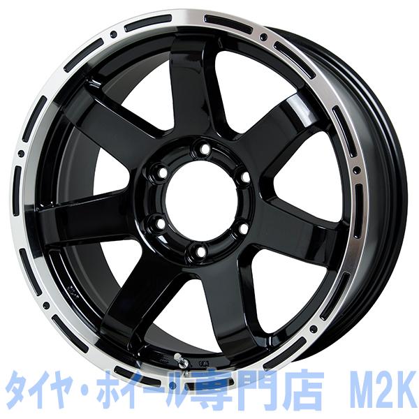 17インチ マッドクロス MC76 7.5J+28 ブラックリムポリッシュ JWL-T VIA 車検 汎用 6H-139.7 1本