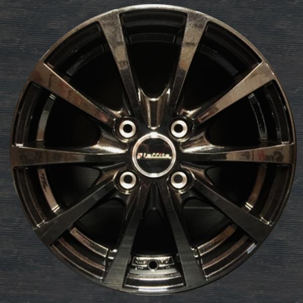 16インチ 10 スポーク フルブラック ホイール 5J+45 4H-100 4本 ミラココア ムーブ ムーブコンテ ワゴンR パレット スペーシア エブリィワゴン アルト