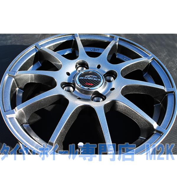 業者宛て 発送 限定 軽量ホイール スタッグ 15インチ 5.5J+40 スタッドレスタイヤ ホイール 4本 175/65R15 アクア ヴィッツ スイフト
