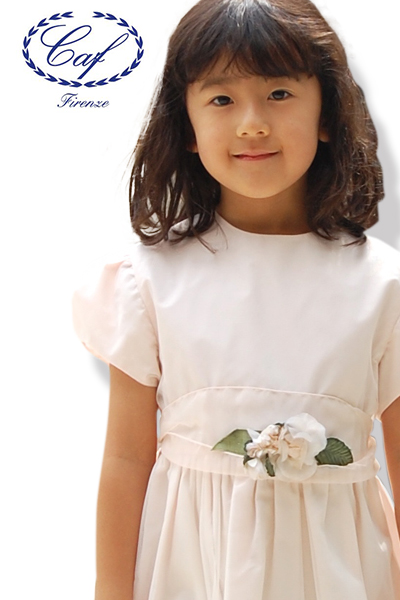 Caf [カフ] Kids ワンピース 2A~12A入園 入学 発表会 七五三 ワンピース 結婚式 子供 ドレス フォーマル Caf ワンピース イタリア製