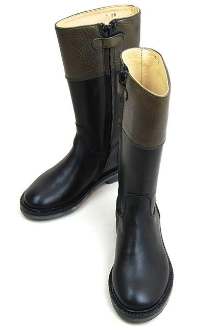 アウトレット価格! gallucci [ガルッチ] バイカラー ロングブーツツートンカラー ブーツ ロング ブーツ イタリア製