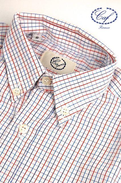 Caf [カフ] Kids タッターソール チェック ボタンダウンシャツ 入園 入学 結婚式などフォーマルからカジュアルスタイルまで幅広く使い回せる男の子のボタンダウンシャツ!デニムに合わせてもOK !