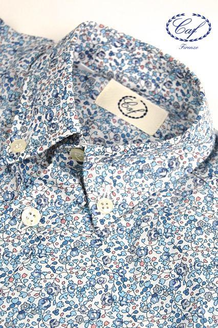 Caf [カフ] Kids フラワープリント ボタンダウンシャツ 入園 入学 結婚式などフォーマルからカジュアルスタイルまで幅広く使い回せる男の子のボタンダウンシャツ!デニムに合わせてもOK !