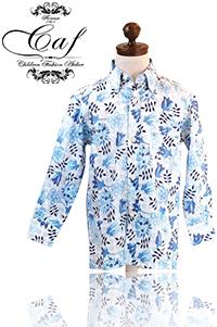Caf [カフ] Kids フラワープリント ボタンダウンシャツ 入園 入学 結婚式などフォーマルからカジュアルスタイルまで幅広く使い回せる男の子のボタンダウンシャツ!カジュアルに合わせてもOK !