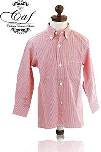 Caf [カフ] Kids ロンドンストライプ ボタンダウンシャツ 入園 入学 結婚式などフォーマルからカジュアルスタイルまで幅広く使い回せる男の子のボタンダウンシャツ!カジュアルに合わせてもOK !