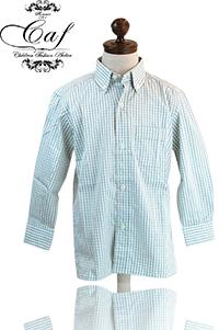 Caf [カフ] Kids チェック ボタンダウンシャツ 入園 入学 結婚式などフォーマルからカジュアルスタイルまで幅広く使い回せる男の子のボタンダウンシャツ!カジュアルに合わせてもOK !