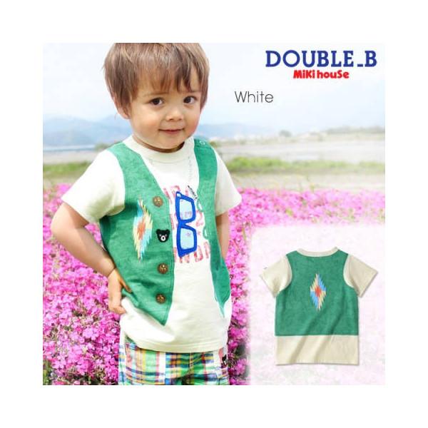 【セール】[ゆうパケットOK]★DOUBLE B ダブルビー★インディアンベストのだまし絵半袖Tシャツ(100cm・110cm)ミキハウス