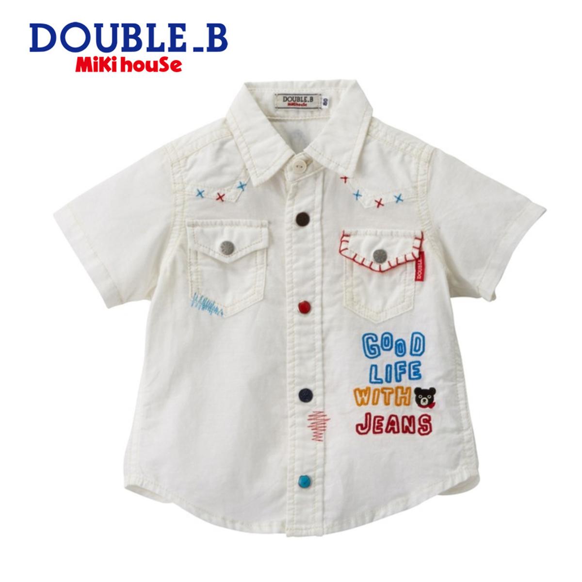【宅配便送料無料】【DOUBLE B ダブルビー】ウエスタン風半袖シャツ(80cm・90cm)ミキハウス