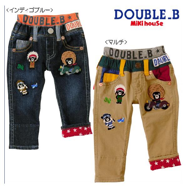 ■【セール30%OFF】【宅配便送料無料】【DOUBLE B ダブルビー】アメリカンヒーローズ☆ジーンズ (80cm・90cm)